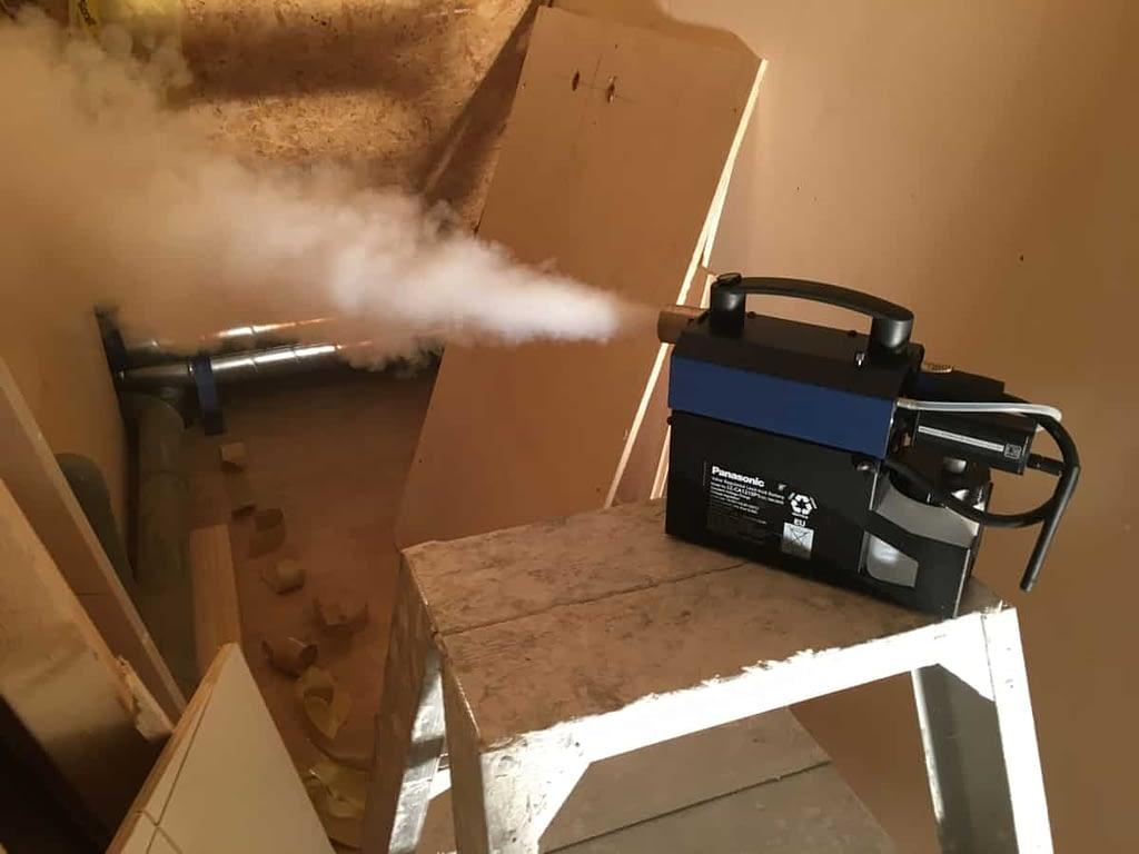 Rooktest bij een niewbouw woning Onnen