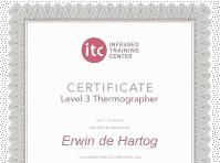Blowerdoortest is ITC Level 3 gecertificeerd in thermografie.