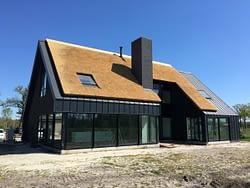 Blowerdoortestbij een nieuwbouw woning in Nietap, Drenthe