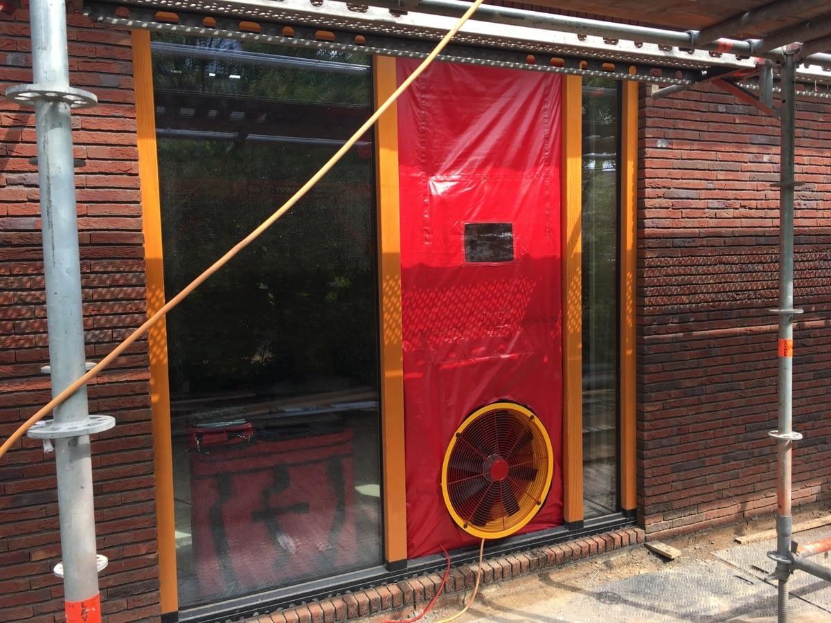 Blowerdoortest nieuwbouw woning in Onnen, Groningen