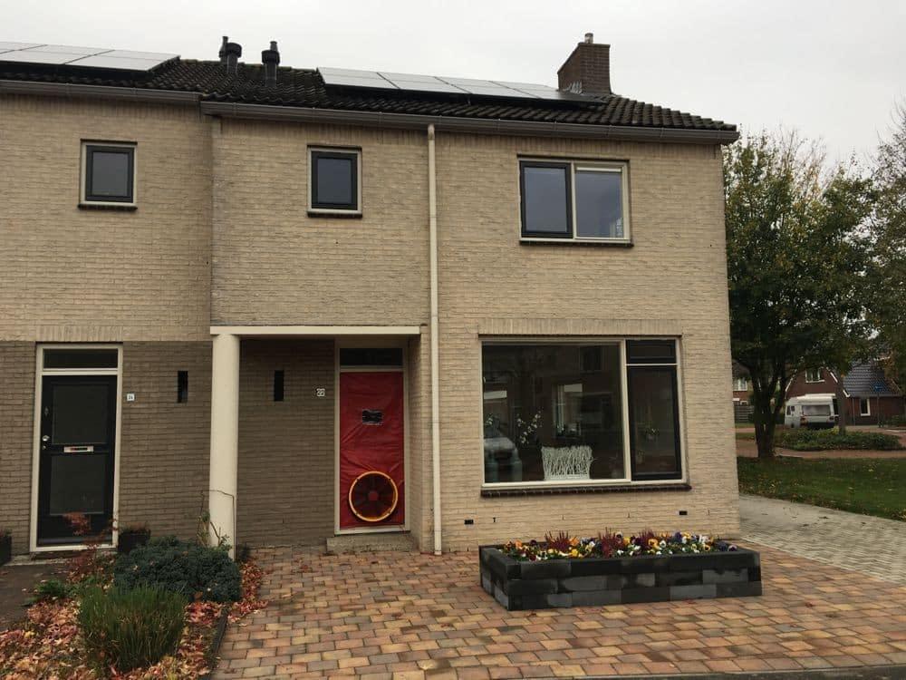 Luchtdichtheidsmeting bij een te renoveren huurwoning in Beilen, provincie Drenthe