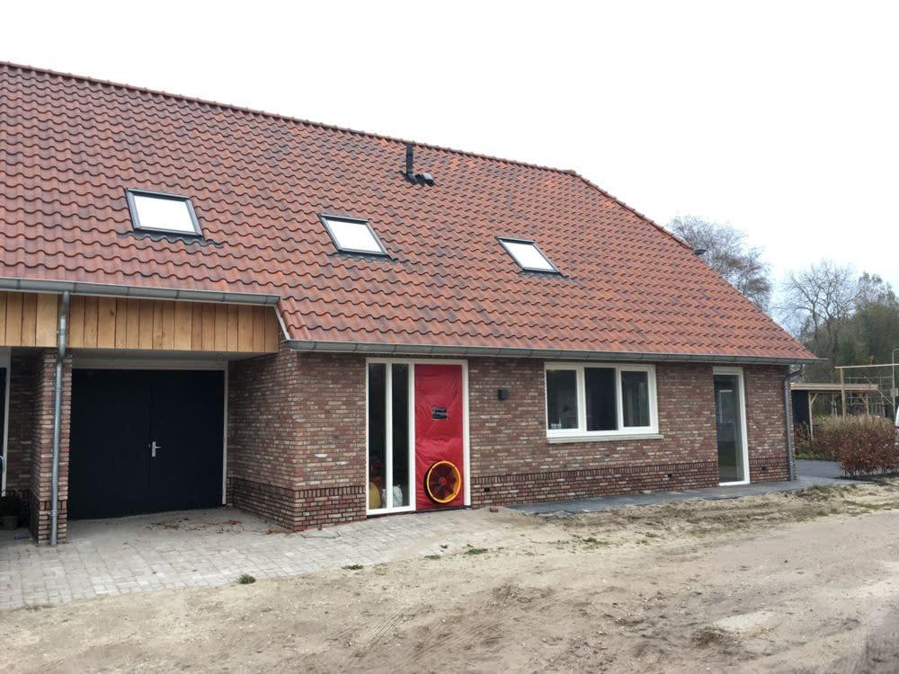 Luchtdichtheidsmeting bij een nieuwbouw woning in Rouveen, Overijssel