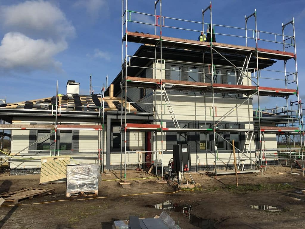 Blowerdoortest bij nieuwbouw in Steenwijk, Friesland.