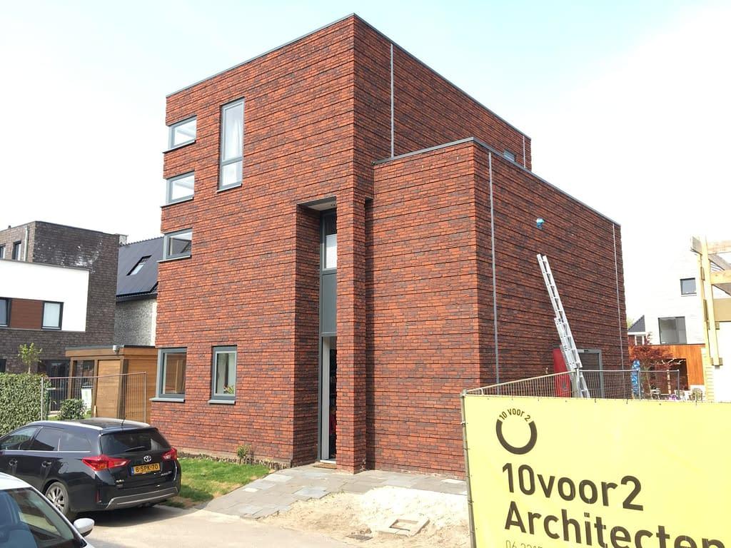 Luchtdichtheidsmeting bij een nieuwbouwwoning in Enschede