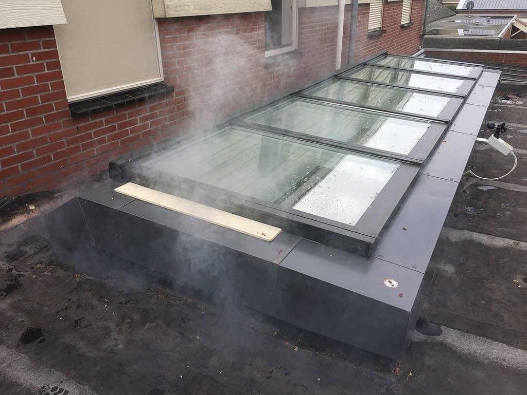 Rooktest bij aanbouw in Groningen