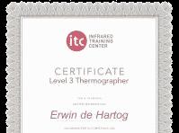 Blowerdoortest is ITC Level 3 gecertificeerd in thermografie.